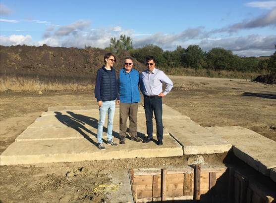 Prospex's Exploration Manager C Venturini on site (Week of 11 September )
